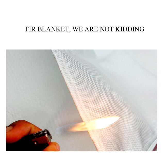 1M X 1M Fire Blanket Fiberglass Fire Flame Retardant Emergency Survival White Fire Shelter Safety Cover Fire Emergency Blanket 6