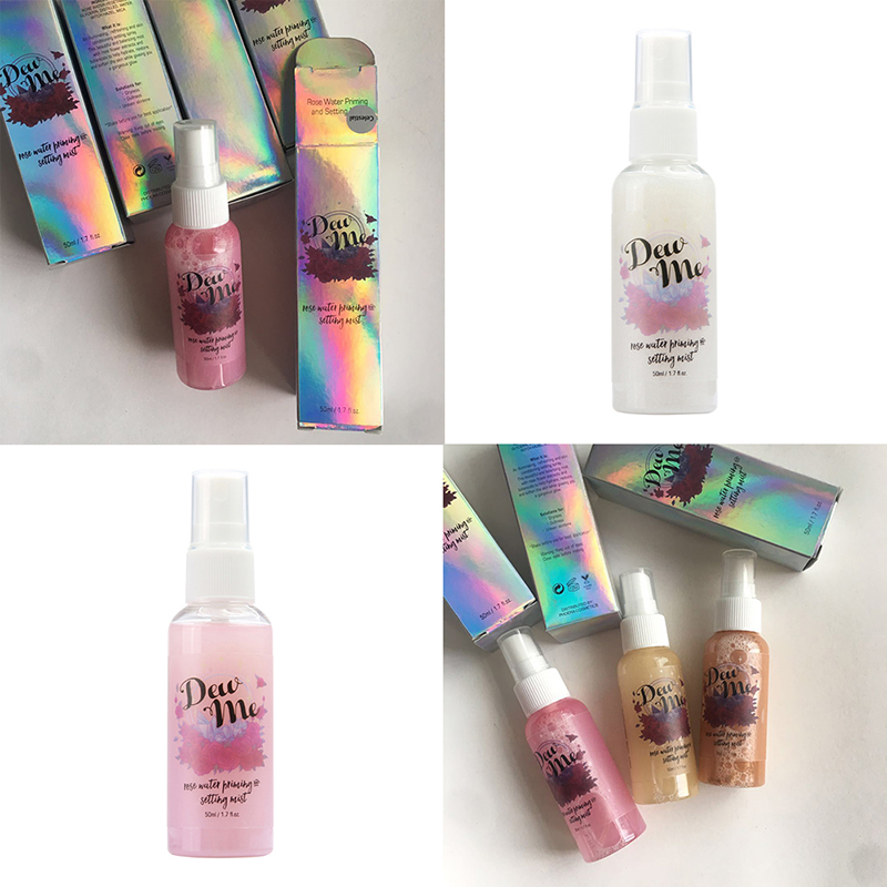 Spray Illuminating Face Rose-Gold Makeup Glow Brighten Comestic-Tools Liquid-Setting