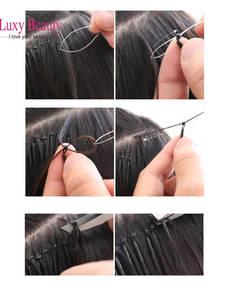 Hair-Extension Nano Micro-Ring Human Silicone 6D 50/100pc