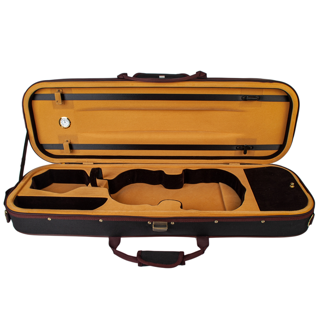 Professional Storage Case Bag Protector 90x25x14.5cm For Full Size Acoustic Violins Black
