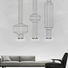 Post-modern Geometric Line Pendant Lights Nordic Living Room Restaurant Indoor Lighting Pendant Lamp Hanglamp Kitchen Fixtures