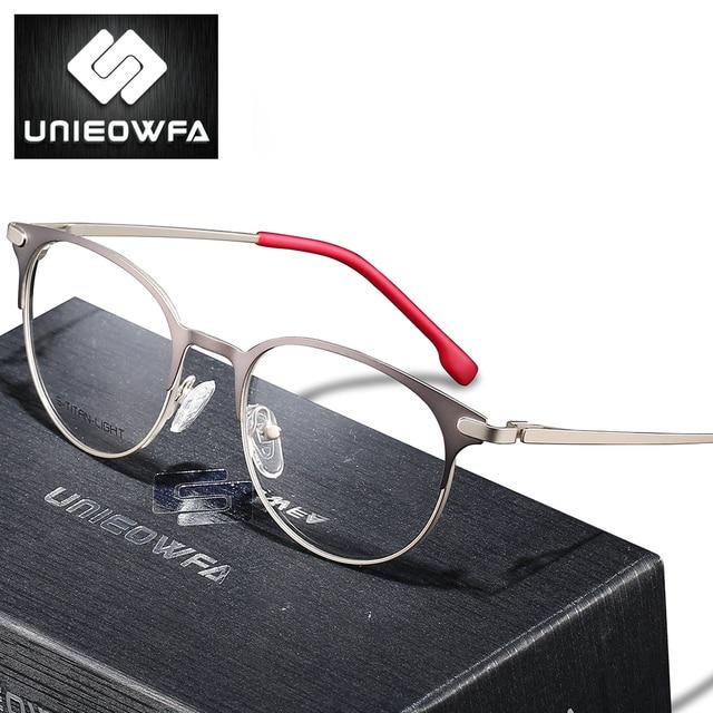 Titanium Legering Retro Ronde Bril Frame Mannen Optische Prescription Brillen Frame Vrouwen Clear Bijziendheid Vintage Bril Frame