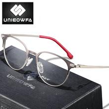 Tytanowe okrągłe okulary Retro rama mężczyźni okulary korekcyjne optyczne ramki kobiety jasne krótkowzroczność Vintage oprawki okularowe