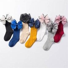 Socks Baby Knee-High Kids Cute Children For Girl with Bow Sweet Long-Tube Bebe-Footwear