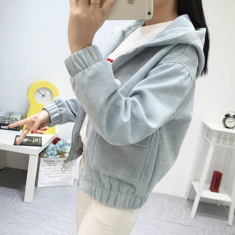 Hb1b4cbf217144a96b112cd57c54b617b0 Jacket Chaqueta Coat  Clothes Streetwear New 2019 Women Jacket Long Sleeve Turn-down Collar Outerwear Brown Corduroy Coat Jacket