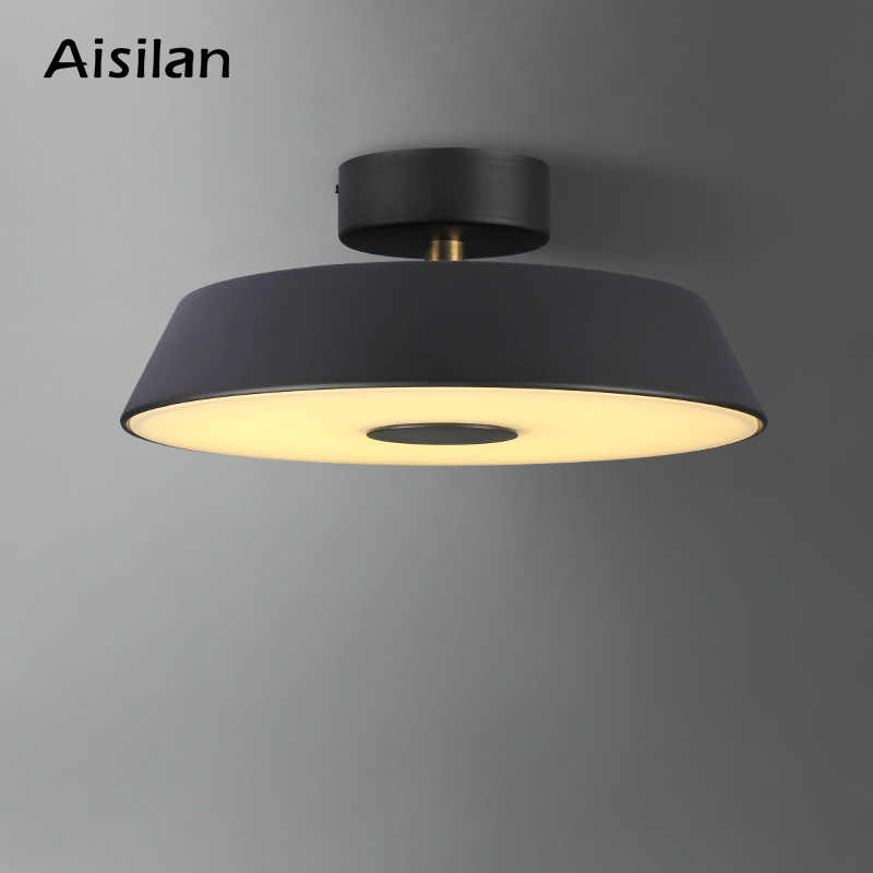 Aisilan Round Circle Aluminum Modern Led ceiling light Adjustable lamp for living room bedroom dining table office meeting room