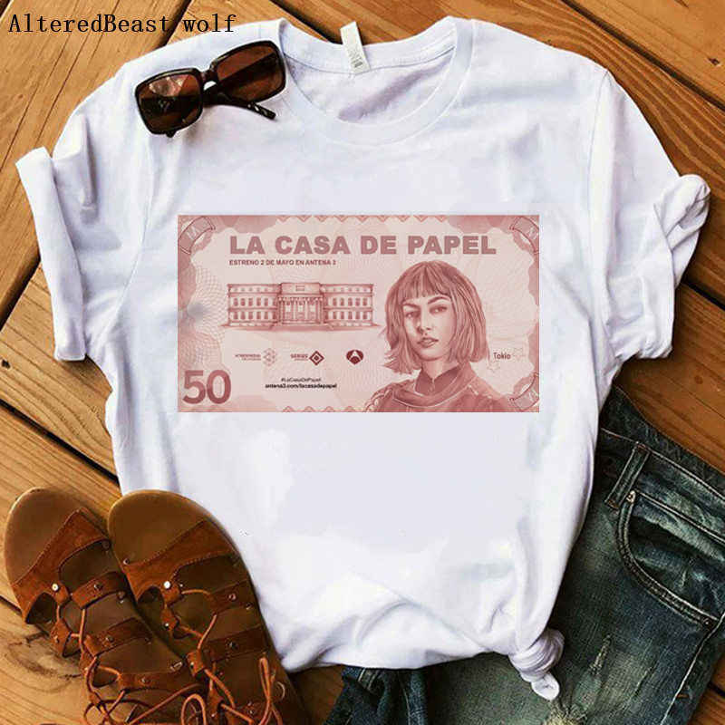 BELLA CIAO 2020 Haus von Papier Geld Heist La Casa De Papel T Shirt Kurzarm brief drucken frauen casual sommer tops t