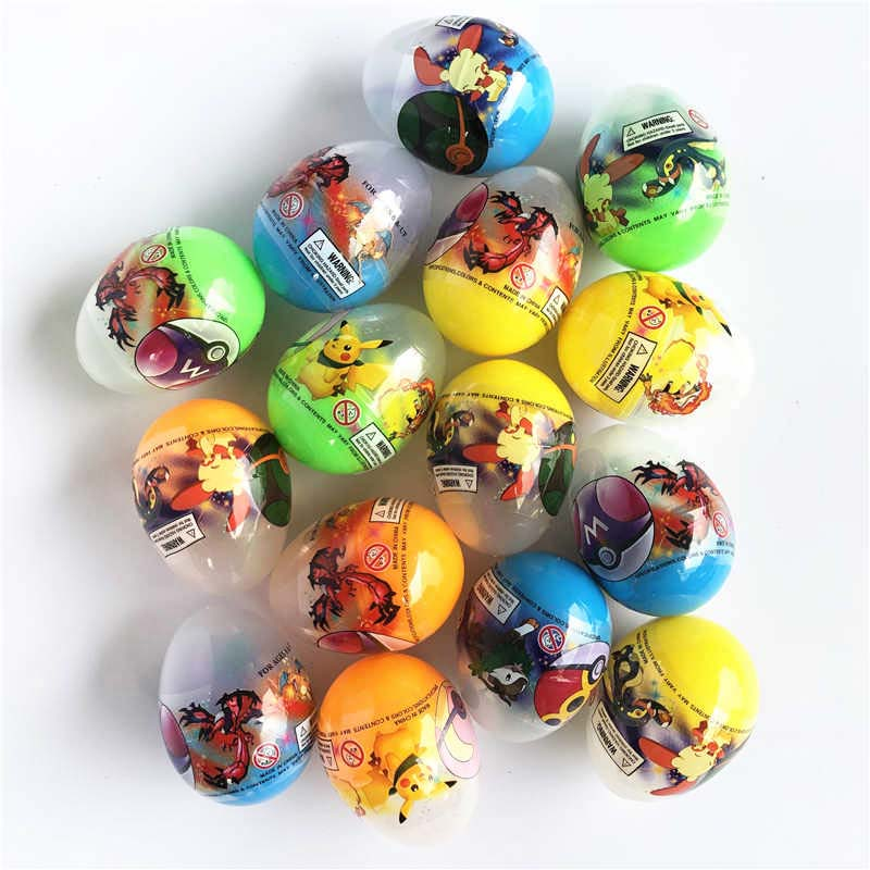 100pcs Multicolor Gashapon Machines PokeBall Monster Pikachu Charmander Pet Pokebolas Action Figure Game Ball Toy Dropshipping