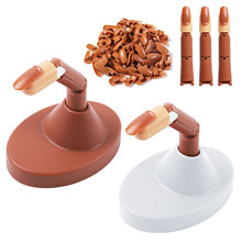 Manicure Practice Finger Bendable Movable Mechanical Joint Manicure Model Artificial Hand with Display Base Tools