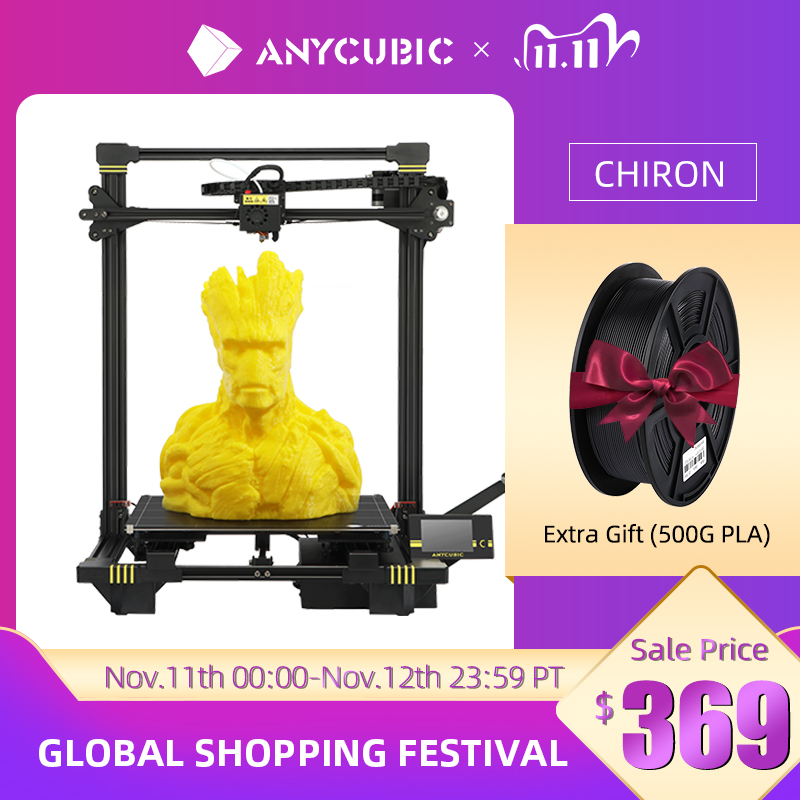 ANYCUBIC Chiron 3D Printer DIY TFT Auto-leveling impresora 3D Printers Extruder Dual Z axis Impresso