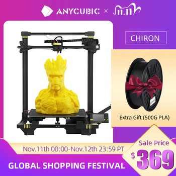 ANYCUBIC Chiron 3D Printer DIY TFT Auto-leveling impresora 3D Printers Extruder Dual Z axis Impressora 3D Printing Kit Drucker