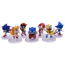 4-5CM 7 pièces/ensemble Ombre Jouet Sonic Chiffres Ombre Queues Personnages Figure PVC Jouets Pour Enfants Modèle De Collection Jouets Cadeaux