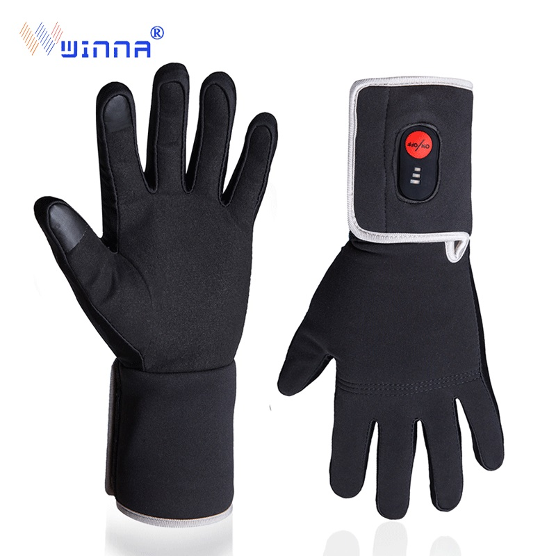 Winter Electric Heating Gloves For Riding Biking Fishing Outdoor Sports Use 3 6 hours 2200mAh Battery