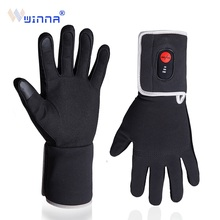 Winter Electric Heating Gloves For Riding Biking Fishing Outdoor Sports Use 3-6 hours 2200mAh Battery Heated Gloves Touch Screen savior motorcycle heating gloves riding racing biking winter sports electric rechargeable battery heated warm gloves cycling