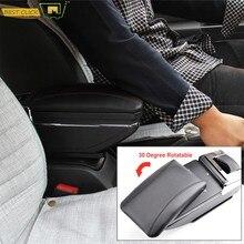 Caja de reposabrazos deslizante para coche, Cenicero, Interface Central, para Peugeot 206 207, cojín compacto, portavasos, piezas de reequipamiento Interior para coche