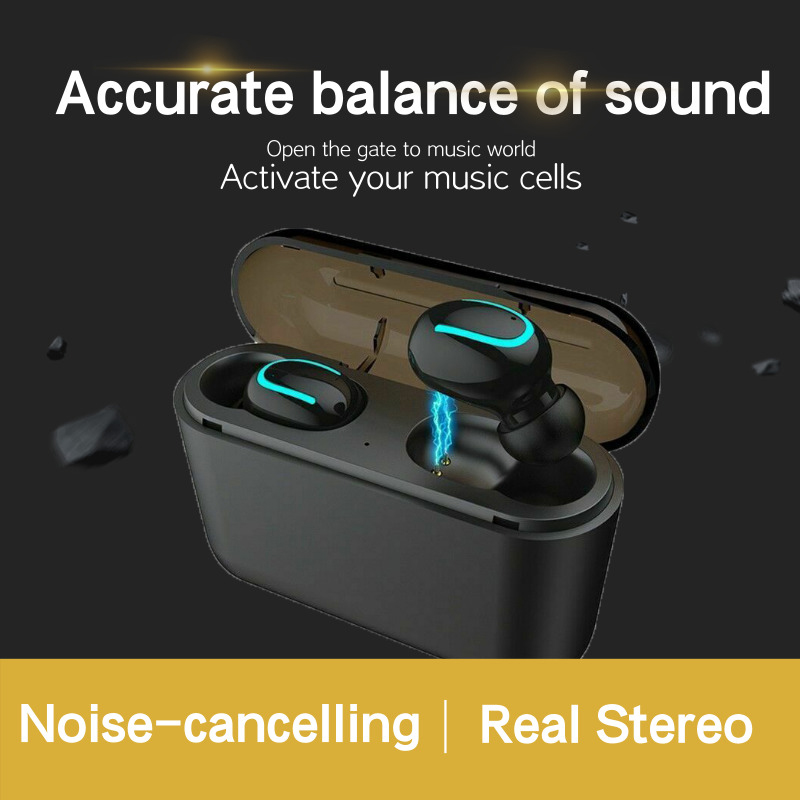 Wireless Headphones <font><b>TWS</b></font> Mini Bluetooth <font><b>5</b></font>.0 Stereo IPX <font><b>5</b></font> Real Stereo Earphones In-Ear Headset Strong Function <font><b>5</b></font> Hours Play Time image