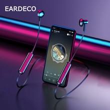 Беспроводные наушники EARDECO, Hi Fi Bluetooth наушники, спортивные наушники для бега, наушники вкладыши с микрофоном и шейным ремешком
