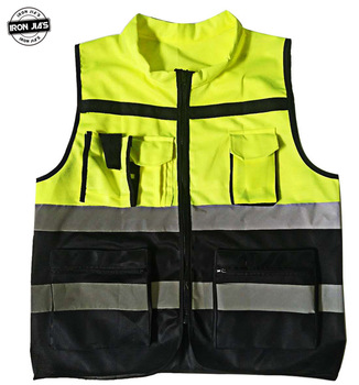 IRON JIA'S Motorcycle Reflective Security Vest Mens Motorbike Riding Protective Clothing Traffic Safety High Visibility Jacket unisex car motorcycle reflective safety clothing high visibility safety reflective vest warning coat reflect stripes tops jacket
