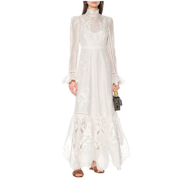 2020 New arrive women high quality embroidery dress