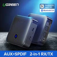 Ugreen Bluetooth 5.0 Ricevitore Trasmettitore 4.2 aptX HD per la TV Cuffia 3.5 millimetri Ottica SPDIF Bluetooth AUX Audio Receiver Adapter