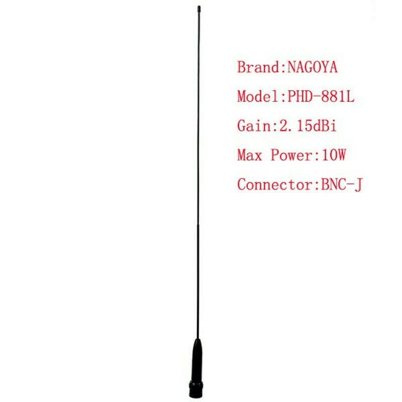 50 Ohms 10W Radio Walkie Talkie Antenna BNC Dual Band VHF/UHF For BAOFENG YAESU