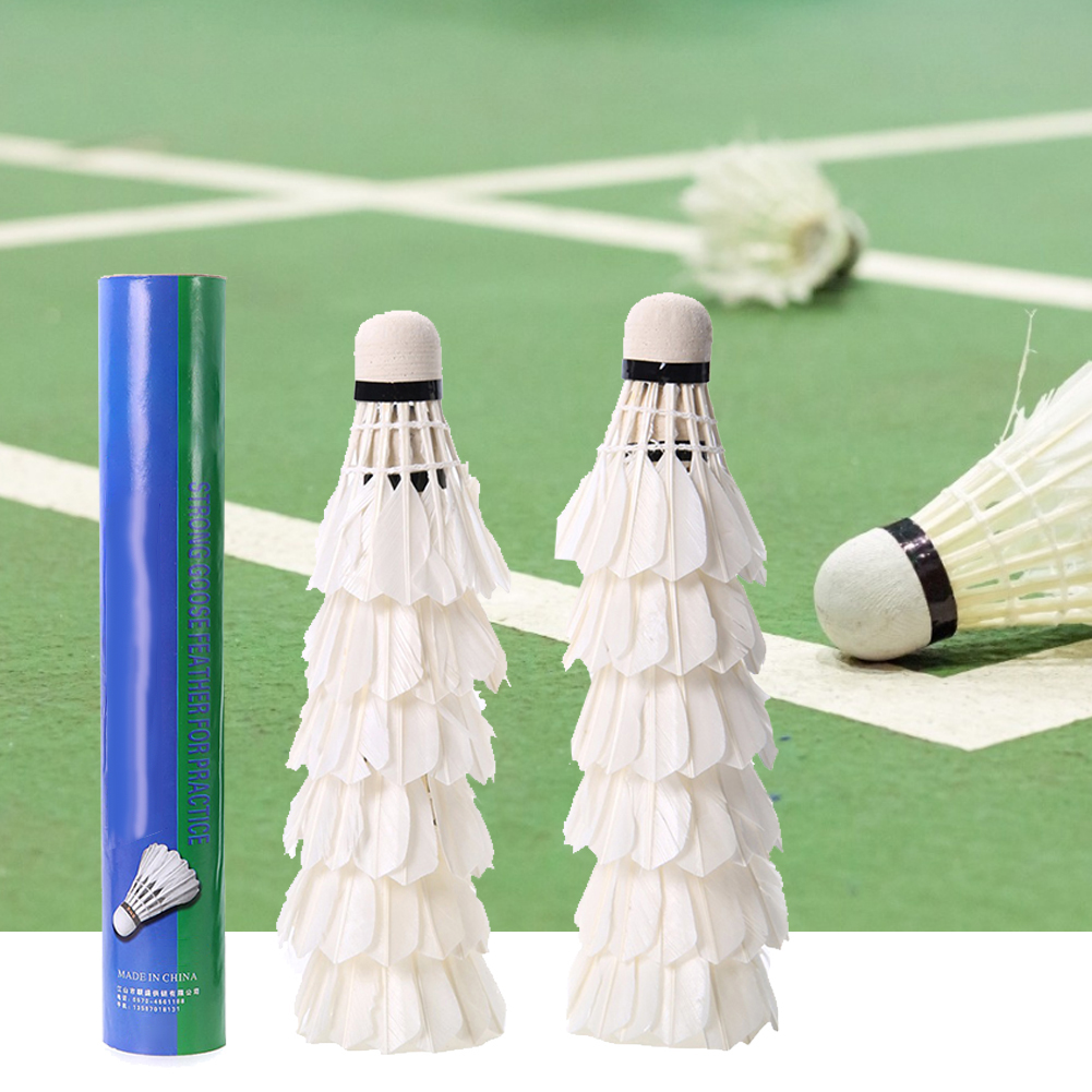 12pcs Badminton Stable Durable Indoor Outdoor Game Sports Training Badminton Balls Reliable Performance