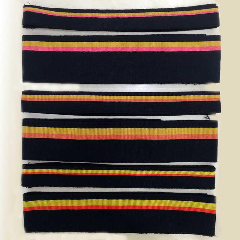 Jietai Dây Nhiều Màu Sắc Mercerized Cotton Dệt Kim Mềm Mại Sườn Vải Tự Làm Vải Phụ KiệN Cổ Bo Viền Đáy Cổ Trụ Thời Trang