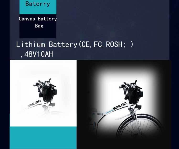 Canvas Battery Bag e bike 26 inch 350W Lithium Battery   Folding  Electric Bicycle E Bike 8
