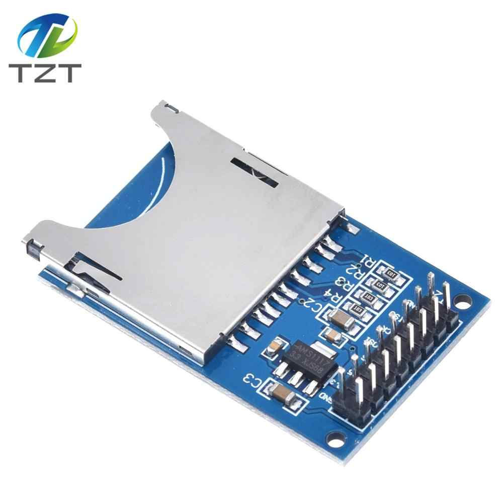 10PCS//LOT Reading and Writing Module for arduino SD Card Module Slot Socket Reader ARM MCU