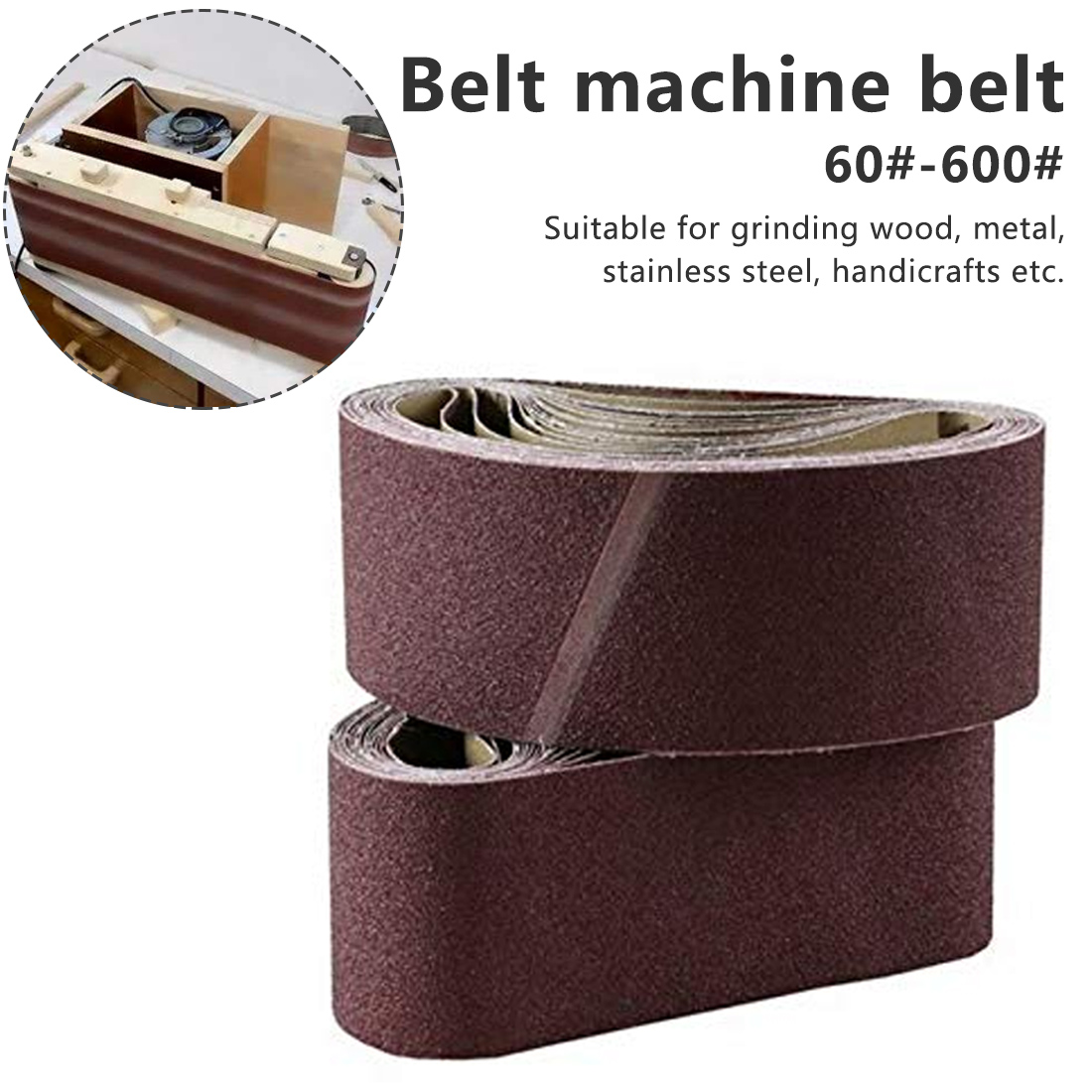 915*98mm Sanding Belts P60 - P600 Abrasive Sanding Screen Band  For Wood Soft Metal Grinding Polishing Abrasive Belt