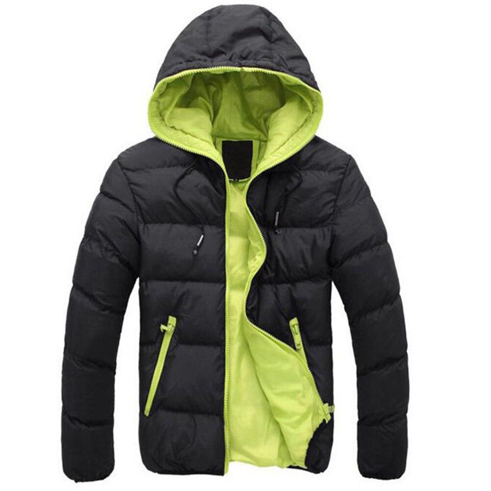 Зимняя мужская куртка 2019, модная мужская парка со стоячим капюшоном и воротником, мужские плотные куртки и пальто, мужские зимние парки M 4XL - 3
