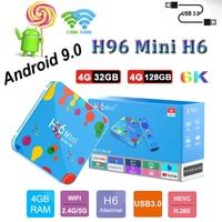Smart TV Box Android9.0 H96mini h6 4GB 32G/128GB H.265 2 4G/5G Wifi 6k HD tv set top box h96mini plus unterstützung iptv m3u Youtube-in Digitalempfänger aus Verbraucherelektronik bei