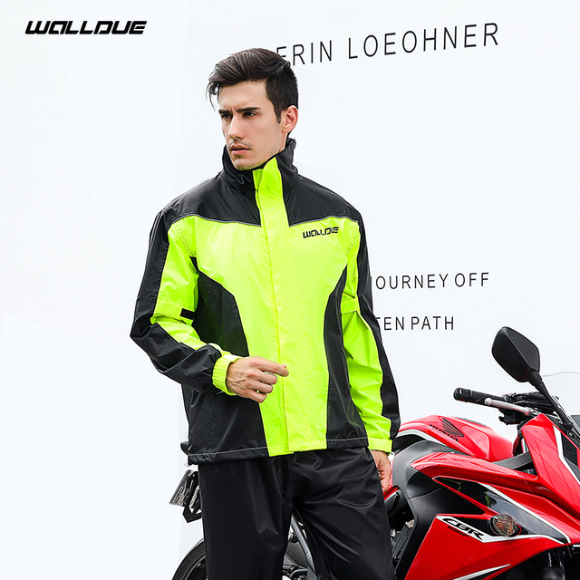 Adults Men Coat Motorcycle Raincoat Rain Pants Suit Rain Coat Men Waterproof Trench Coat Men Rainwear Thin Light Jacket Gift