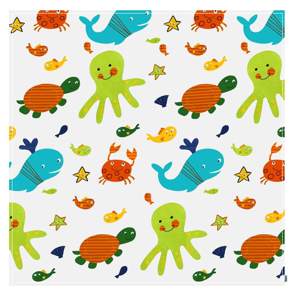 Splat Baby Foldable Washable Cartoon Print Splash Mat Feeding Anti Slip Portable Floor Protector Accessories For Highchair