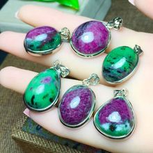 Red and green stone  pendant t DIY jewelry