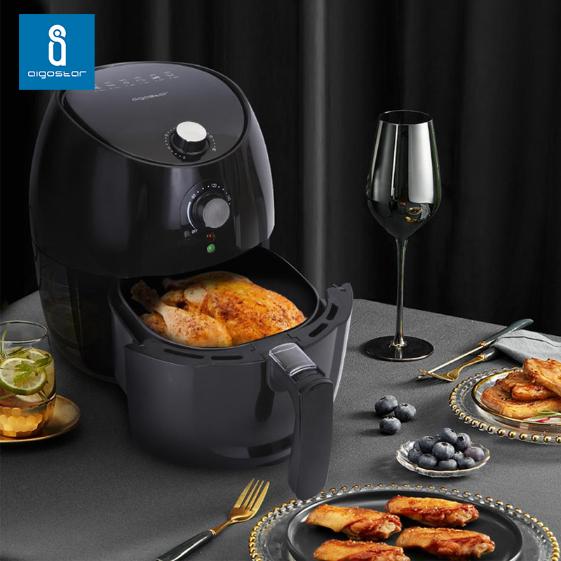 Aigostar Hayden 30PYC - Electric Air Fryer, 1500 W, 3.5 Liters, Non-stick Frying Basket, Automatic Shut-off Function, Oil-free