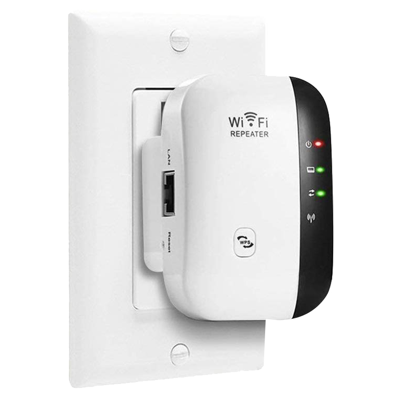 WiFi Network Repeater Wireless Signal Amplifier Small Bread Routing Extender 300M Relay Repeater UK Plug