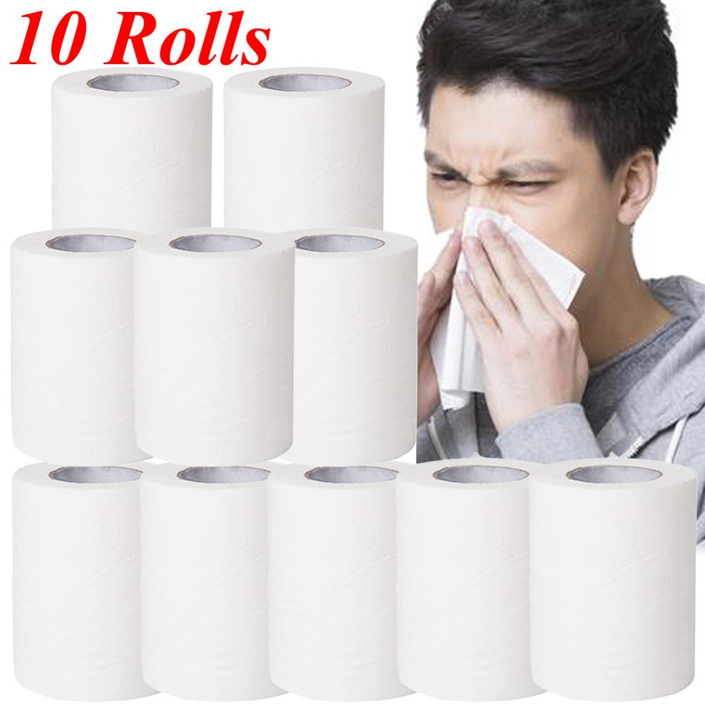 4 Roll Top Quality Jumbo Roll Toilet Paper 3-Layer Native Wood Soft Toilet Paper Pulp Home Rolling Paper Strong Water Absorption