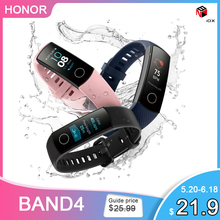 Huawei Honor Fascia 4 Globale Versione di Smart Wristband della fascia di Amoled Touchscreen Impermeabile Sonno Inseguitore di Fitness Frequenza Cardiaca