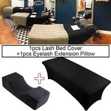 Almohada de espuma de memoria para extensión de pestañas, funda de cama elástica para injerto, herramienta de maquillaje para salón de belleza