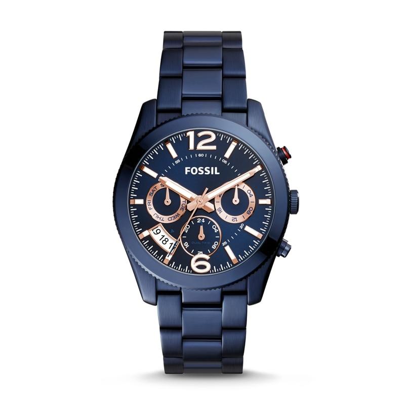 Fossil Perfect Boyfriend Multifunction Women Watches Blue Stainless Steel Watch Luxury Brand Sport Ladies Watch ES4093