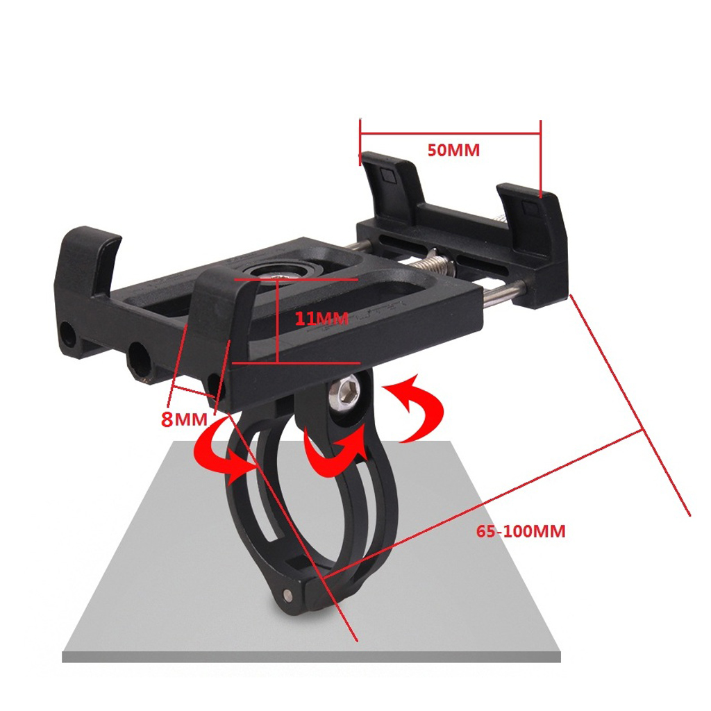 360° Rotatable Adjustable <font><b>Bike</b></font> Handlebar Phone Mount/Motorcycle Holder Cradle for Cycling <font><b>GPS</b></font>/<font><b>Map</b></font>/Music and more image