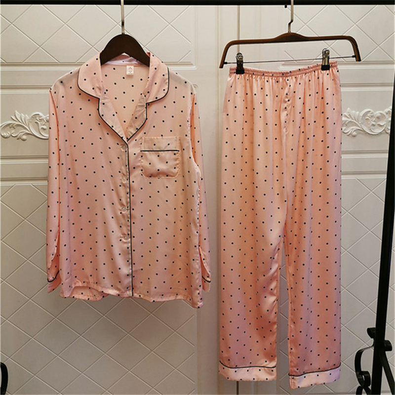 Home service loose large size pajamas set female long-sleeved trousers fresh and cute pajamas bathrobe <font><b>camison</b></font> <font><b>sexy</b></font> <font><b>mujer</b></font> image