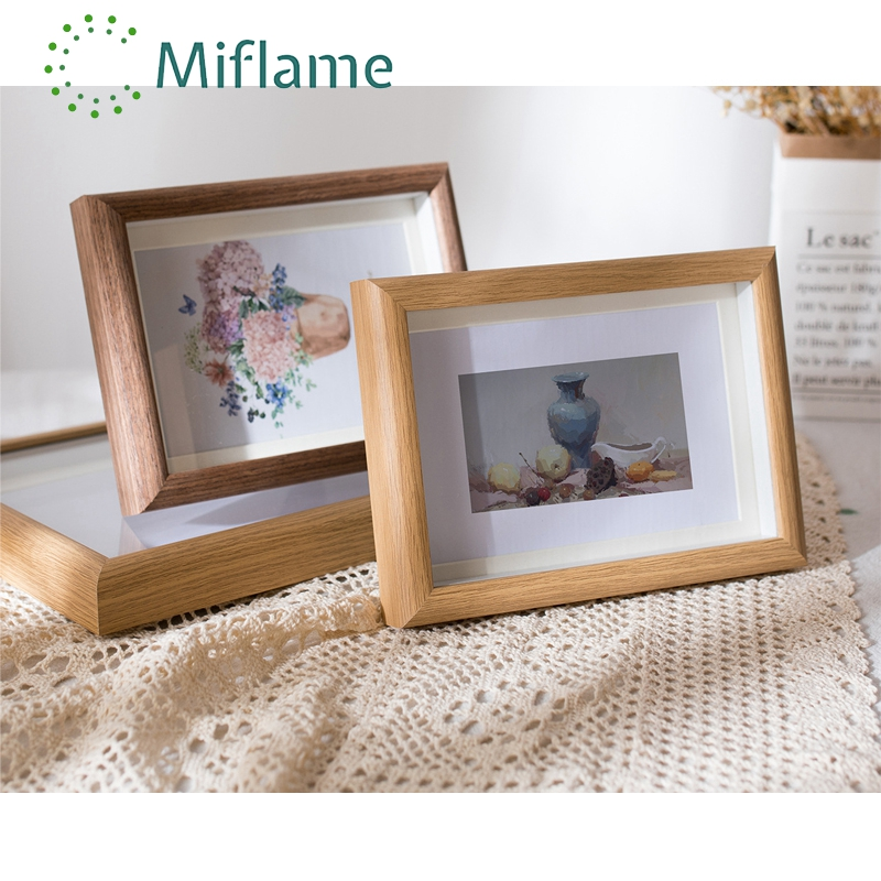 Glass Panel Wooden Photo Frame 6 7 8 10 Inch A4  Creative Decorative Ornaments Framed Art  Picture Frame  Modern Decor