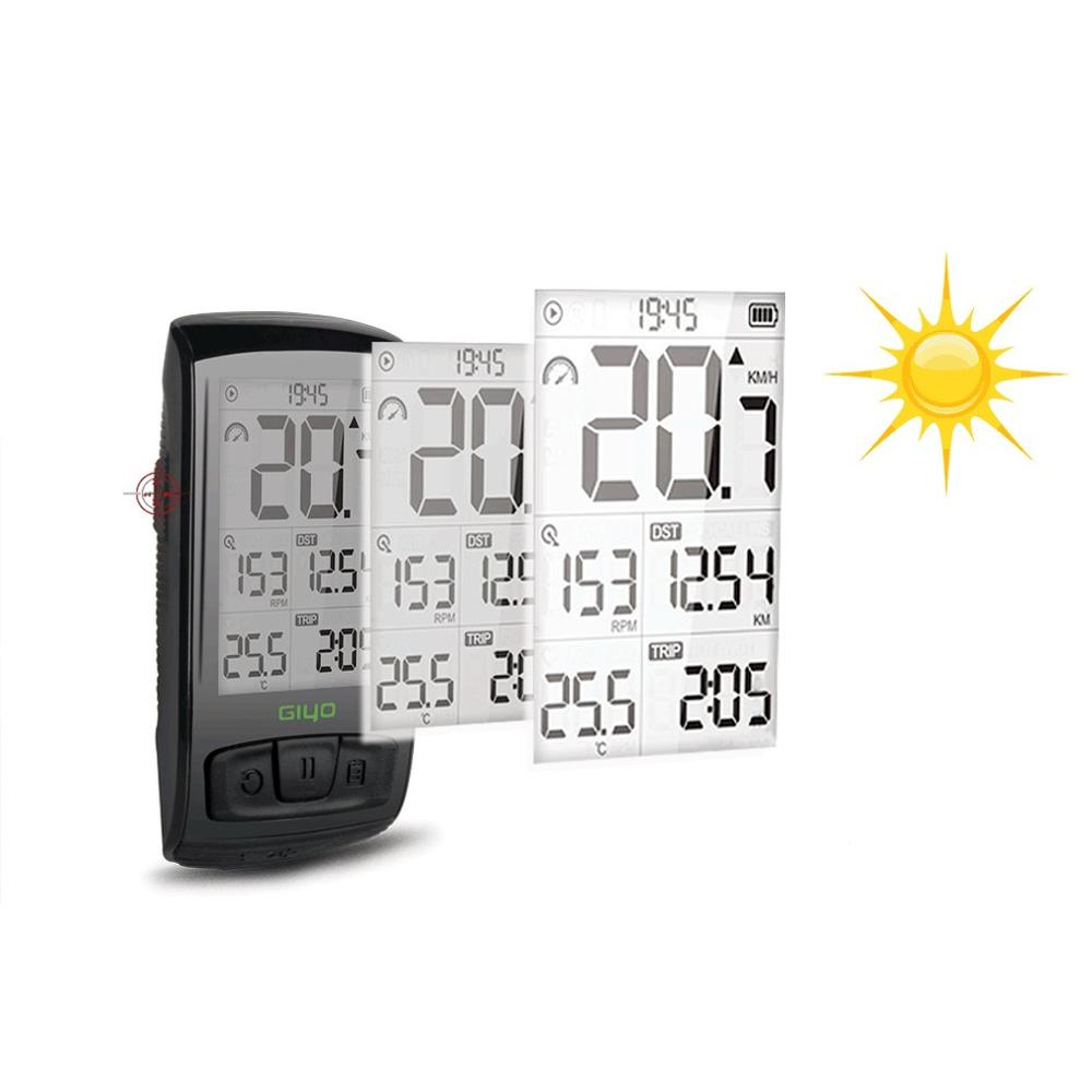 Giyo Digital LED Bicycle Stopwatch Code Table Wireless Road Bike Speedometer Odometer Backlight Waterproof M4 Riding Supplies