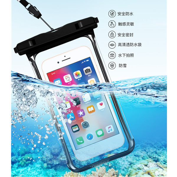 Hb1b8308e6b0a457490f65285f499de6b0 - Full View Waterproof Swimming Pouch Case for Phone Underwater Snow Rainforest Transparent Dry Bag Big Mobile Phone Bag Sealed