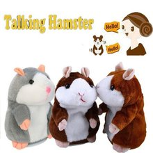 Cheeky Hamster Repeats What You Say Electronic Pet Talking Plush Toy C