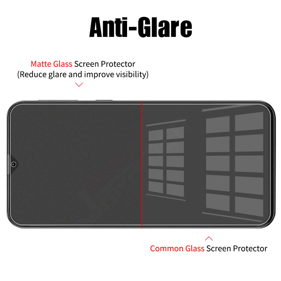 Matte Frosted Full Cover Screen Protector Tempered Glass For Samsung Galaxy 4