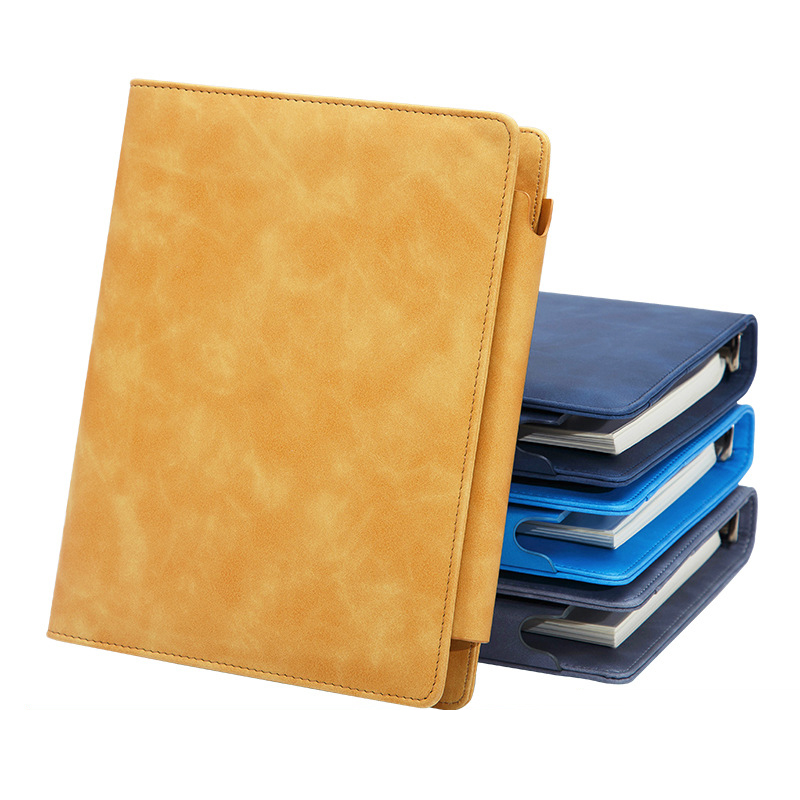 A5 Faux Leather <font><b>Notebook</b></font> <font><b>Spiral</b></font> <font><b>Personal</b></font> Dairy Planner Organizer Notepad Travel Agenda Manager Padfolio Folder Calculator image