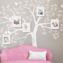 Family Photo Tree Wall Decal Huge wall Sticker Wall Nursery Tree and Birds Wall Art Nature Wall Decor